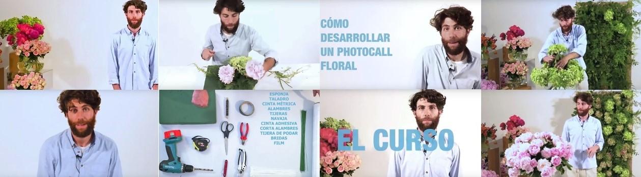 Antonio Rodríguez realizando el curso de photocall floral para Milk School