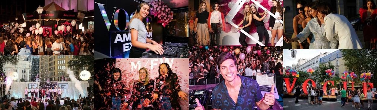 Fotografías del evento Vogue Fashion Night Out para el curso de Milk School